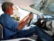 Jay Leno drives Jaguar