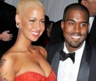 Amber Rose And Kanye West at an award function