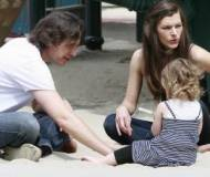 Milla Jovovich with Paul W.S. Anderson