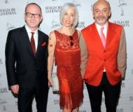 Linda Fargo, Christian Louboutin and Simon Collins