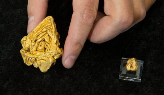 The $1.5 million golden nugget: World's largest single crystal of gold discovered