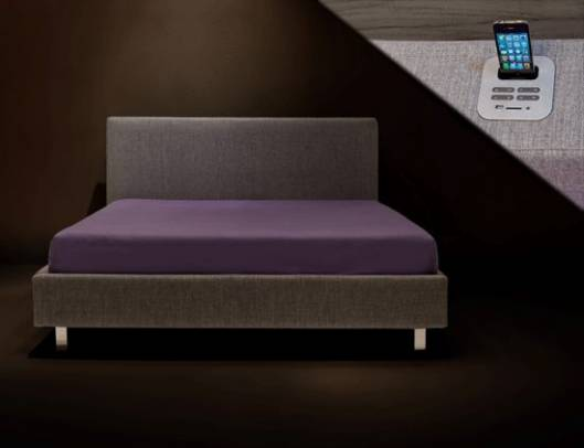 Letto Sound bed by daniela dipadova has a built-in iPod dock too