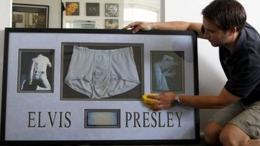 Weird Elvis Presley memorabilia – A pair of Elvis Presley's underpants for sale