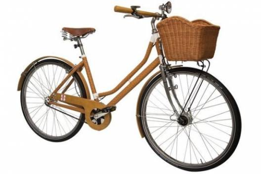 Limited Edition Lady Milano bicycle is covered in Ostrich leather