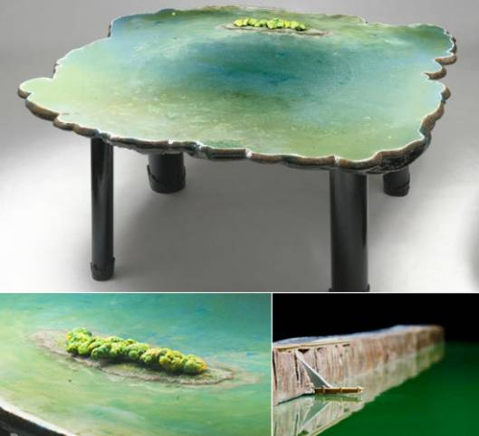 Gaetano Pesce designs limited edition tables inspired from islands and lagoons