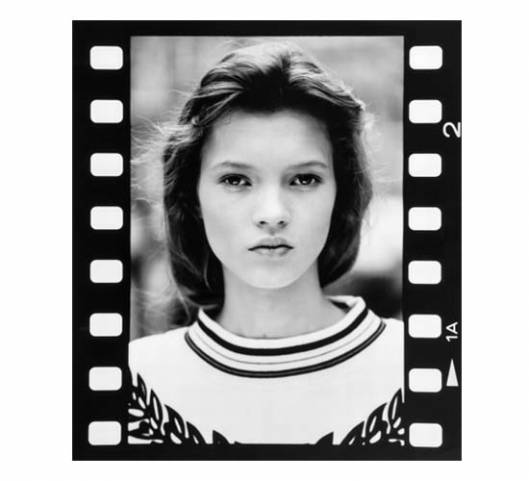 Three vintage photographs of 14-year-old Kate Moss from her first sitting are up for grabs