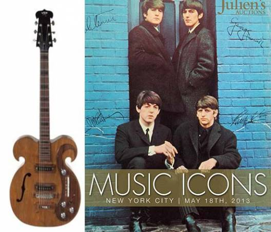 John Lennon owned Vox custom guitar also played by George Harrison goes up for auction