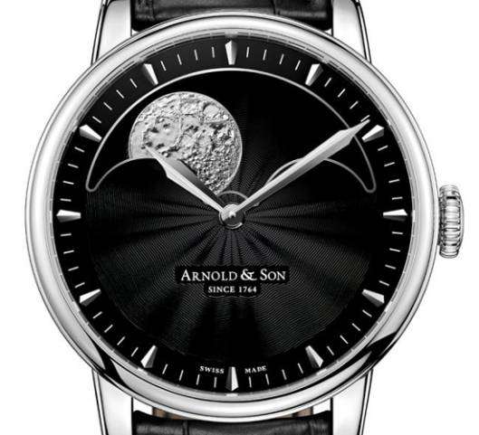 Arnold and Son's Perpetual Moon watch features a three-dimensional big moon