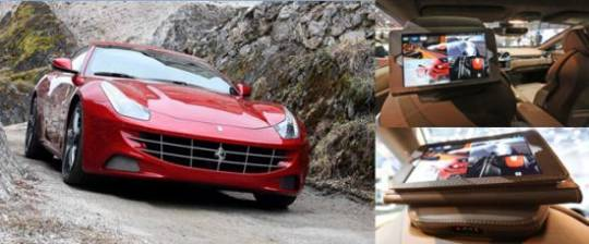 The 2013 Ferrari FF with the iPads