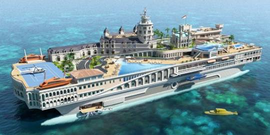 The Streets of Monaco luxury superyacht