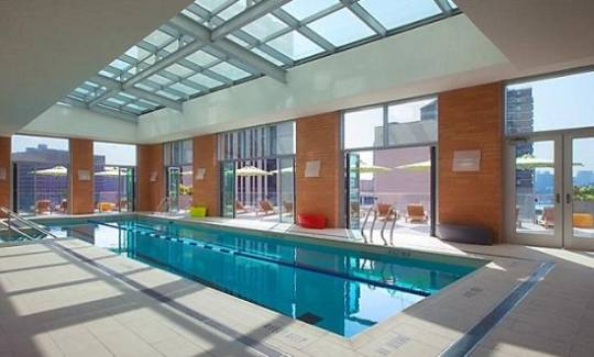 Frank Gehry's building swimming pool