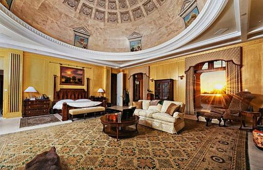 Living area with hand painted dome