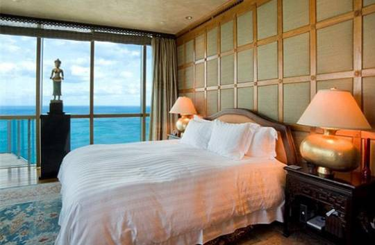 Setai South Beach Resort condominium master bedroom