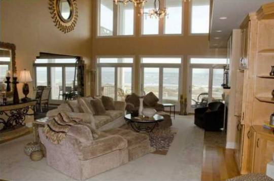 Kyle Petty's resort beachfront house interior