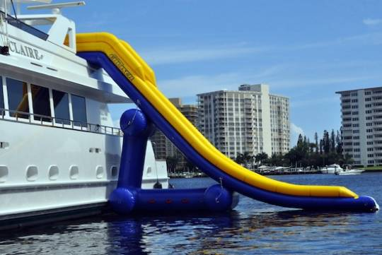 Waterslide for yachts