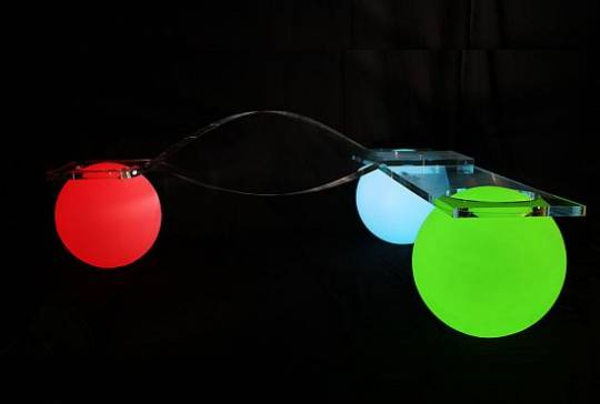 Glowing Light Ball Bench design