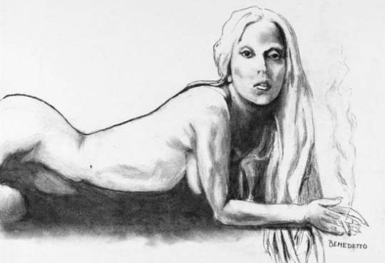 Nude Lady Gaga by Tony Bennett