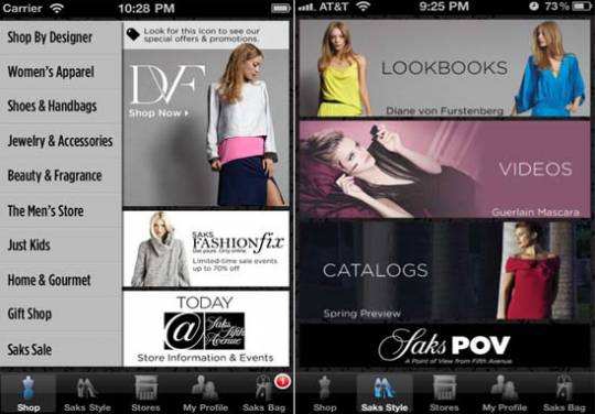 Saks Fifth Avenue mobile app