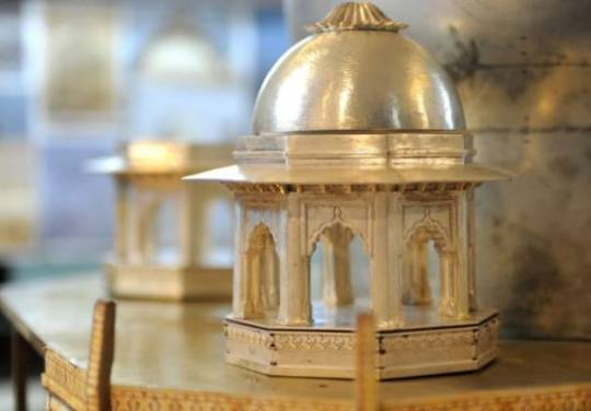 Bejeweled Miniature Taj Mahal featuring 420kgs of precious metal