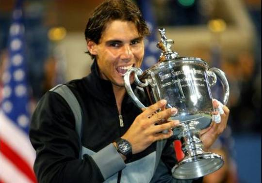 Rafael Nadal wearing Richard Mille RM027