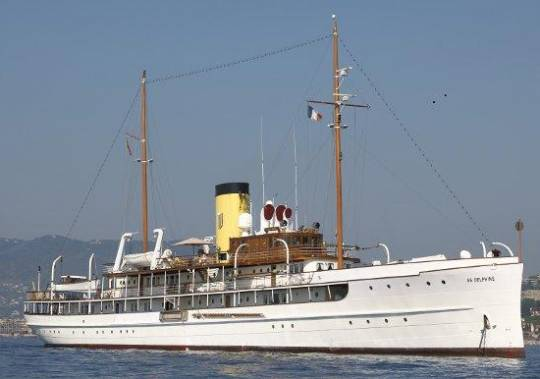 SS Delphine yacht was once destroyed by a fire in 1926