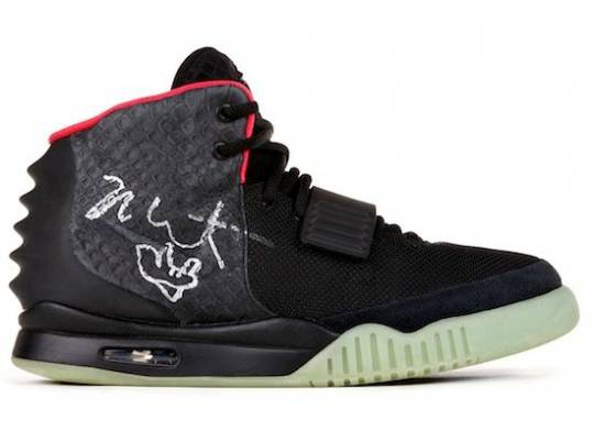 Kanye West signed Nike Air Yeezy 2 sneakers sell for $98,900