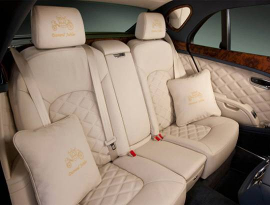 Bentley Mulsanne Diamond Jubilee interior back