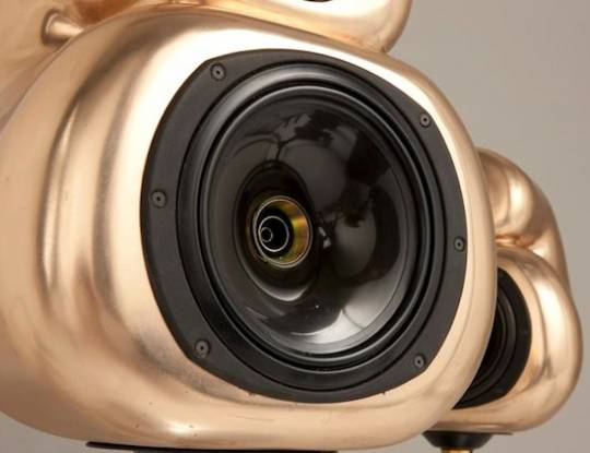 Gold speakers