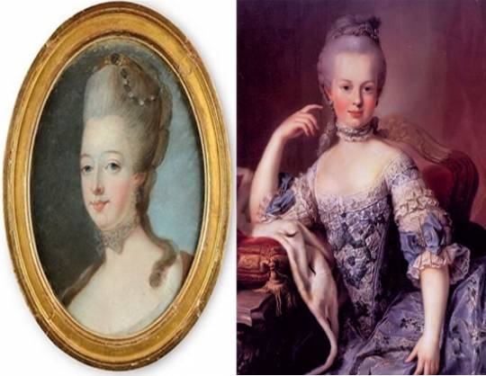 Marie Antoinette at the age of twenty by Gautier-Dagoty