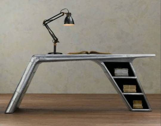 Restoration Hardware unveils Flight-Themed Aviator Wing Desk