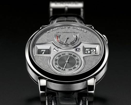 A. Lange & Söhne Limited Edition Zeitwerk Handwerkskunst features a hand-engraved white gold dial