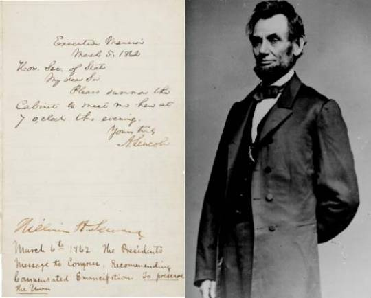 $150,000 expected for Abraham Lincoln autographed letter showing his attempts at compensated emancipation