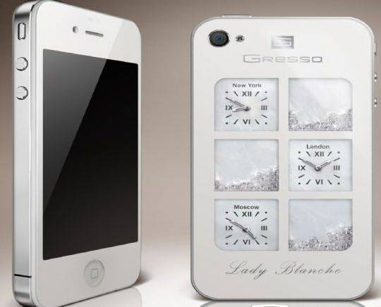 Gresso's white iPhone4 'Lady Blanche' for ladies
