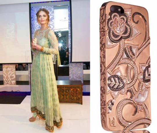 Mischa Barton presents the blinged $302,985 London Lotus iPhone case by UUnique London