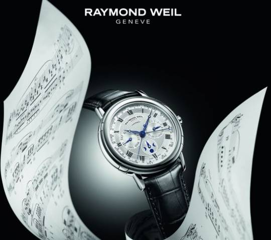 Raymond Weil and it's 'Precision is my inspiration' campaign tells how the story of watchmaking and music making have a similar core