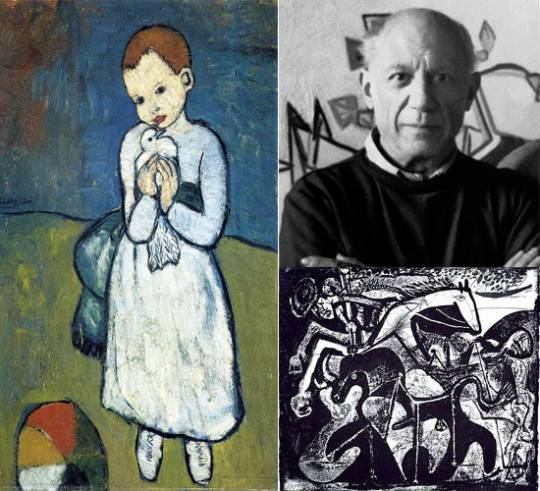 Pablo Picasso and his famous works