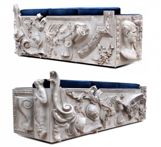 Boca do Lobo limited edition Versailles sofa rear view