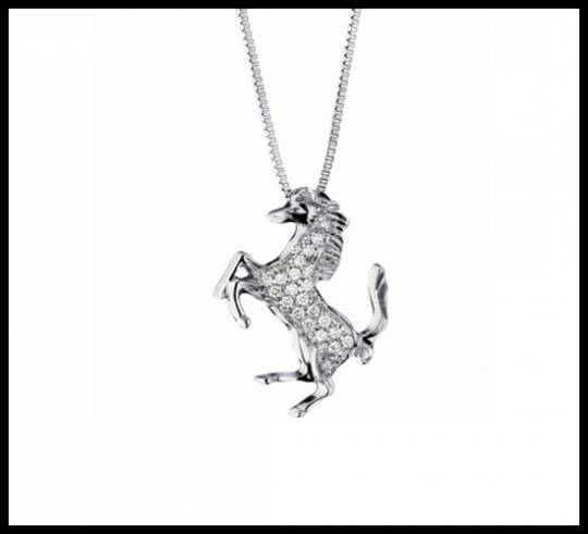 Pendant: Small Diamond Horse Line