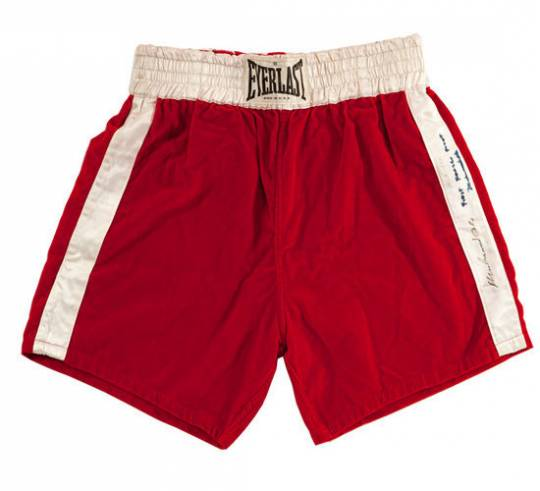 In 2011, the fight trunks worn by Ali for the Fight of the Century fetched record sum at auctions