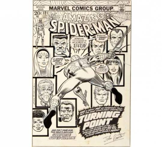 Amazing Spider-Man #121 cover 'The Night Gwen Stacy Died' fetches $287,000 at Heritage Auctions