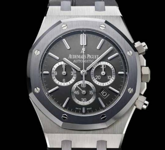 Lionel Messi with Audemars Piguet No.10 Royal Oak Chronograph watch in platinum