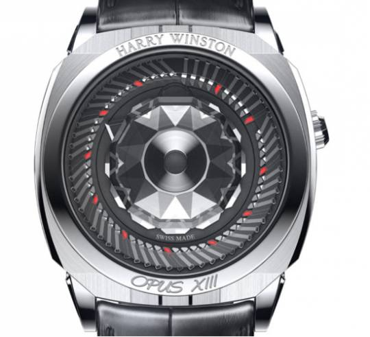 Harry Winston Opus XIII watch uses an optical illusion of sorts to display time