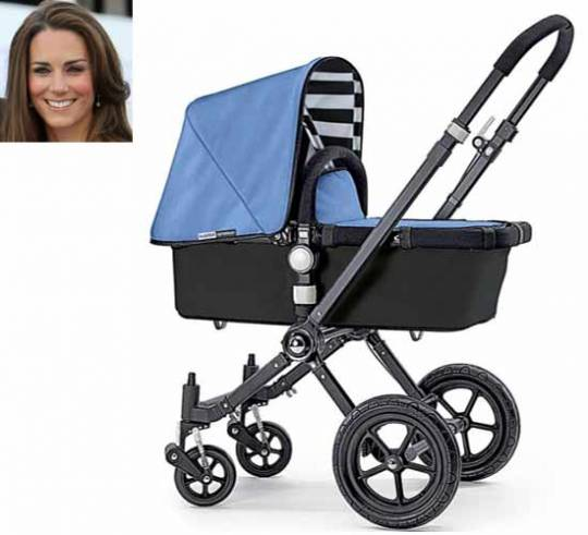Kate Middleton has reportedly ordered a blue baby stroller from Bugaboo for her unborn child