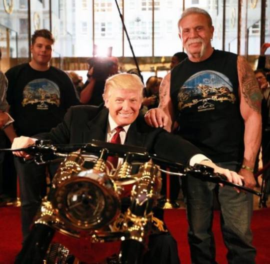 Donald Trump and Senior with the custom chopper
