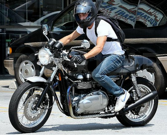 He is an avid bike rider and loves riding the Triumph Thruxton 900 bike