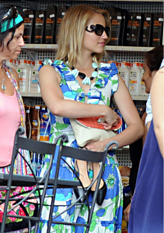 Prada Square Baroque Sunglasses seems to be a favorite with Dianna Agron and she has been spotted wearing the same during a shopping sojourn in Positano.