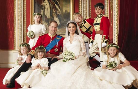 The royal wedding of Prince Charles with Catherine Middleton