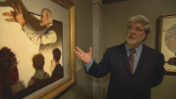 George Lucas is a huge art connoisseur and particularly fancies paintings composed by Norman Rockwell