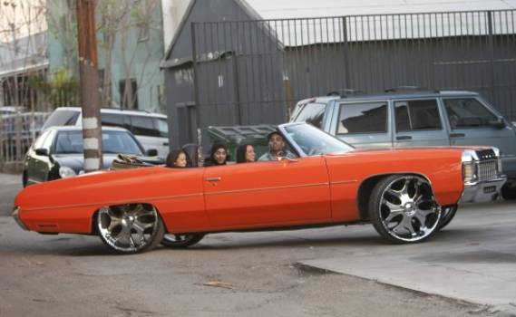 Chris Brown's Orange Chevy Impala