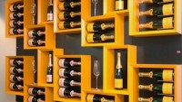 Esigo contemporary wine racks come with a gold leaf finish